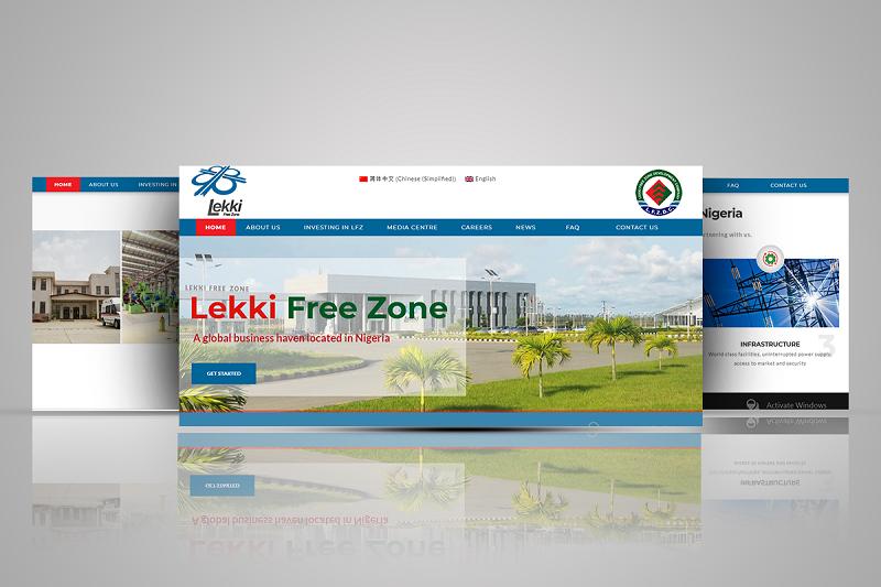 Lekki Free Zone website screen shot
