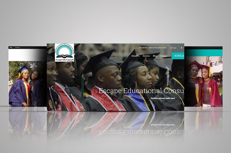 Escape Edu Consult website screen shot