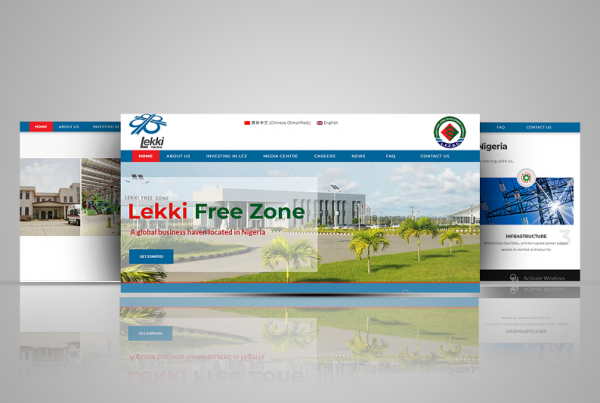 Lekki Free Zone website screen shot